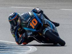 Luca Marini, Kalex, in azione a Jerez