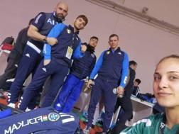 Il team Italia: da sinistra Roberto Meloni, Manuel Lombardo, Fabio Basile, Francesco Bruyere, Odette Giuffrida