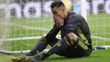 La disperazione di Ronaldo al Wanda. EPA