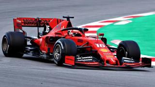 Charles Leclerc in azione con la Ferrari SF90. Getty