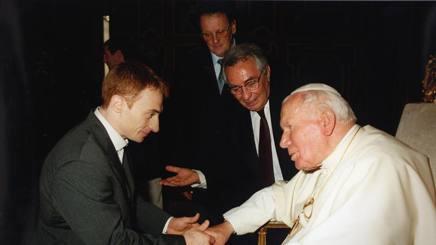 Cannavò fra Yuri Chechi e Papa Giovanni II