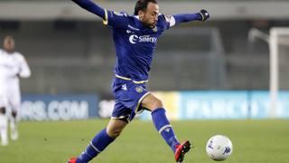Giampaolo Pazzini, 34 anni, attaccante del Verona. Lapresse