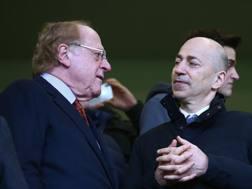 Paolo Scaroni e Ivan Gazidis, presidente e amministratore delegato del Milan. Lapresse