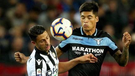 Mandragora e Correa in Udinese-Lazio dell'andata. Ansa