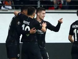 Luka Jovic, stella dell'Eintracht. Getty