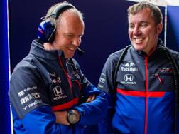 Jody Egginton e Graham Watson ai box della Toro Rosso a Montmelò GETTY IMAGES