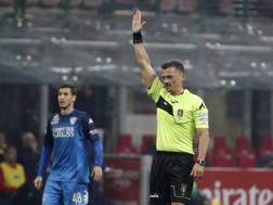 Piero Giacomelli durante Milan-Empoli. Ap