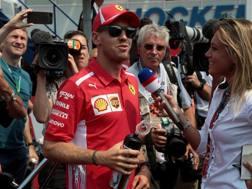 Sebastian Vettel, 31 anni, 4 volte iridato di F.1, intervistato da Mara Sangiorgio LAPRESSE