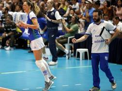 L'esultanza di Stefano Lavarini per la vittoria nel sudamericano