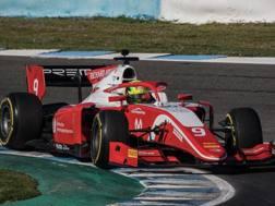 Mick Schumacher in azione a Jerez. Pellegrini