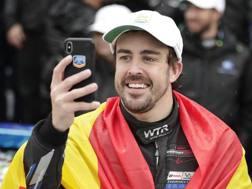 Fernando Alonso alla recente 24 Ore di Daytona che ha vinto. Ap