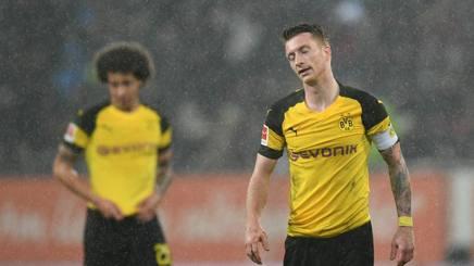 La delusione dei giocatori del Dortmund. Afp