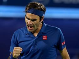 Roger Federer, 37 anni, 100 vittorie in singolare in carriera. Getty