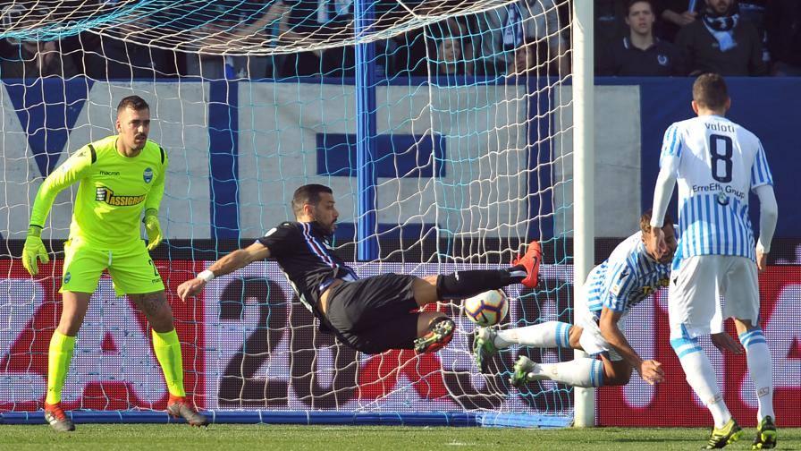 Spal-Sampdoria 1-2, doppietta di Quagliarella, gol di Kurtic