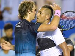 Sascha Zverev e Nick Kyrgios. Getty
