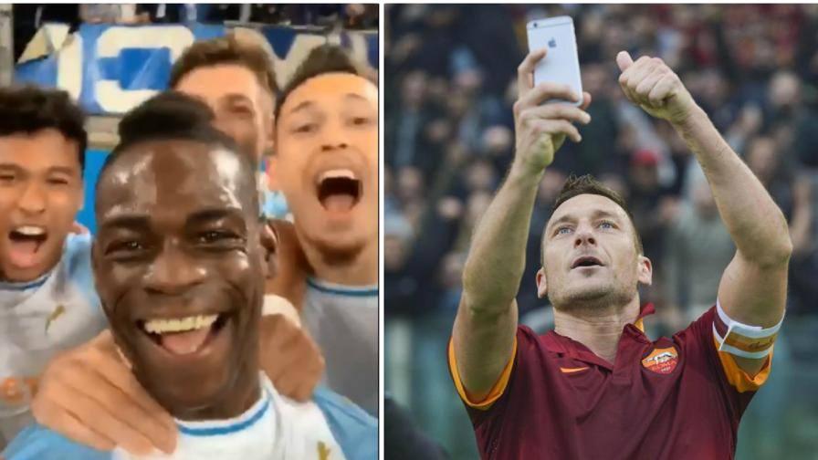 """Dal selfie Totti a Balotelli """"Storie"""" di esultanze social"""