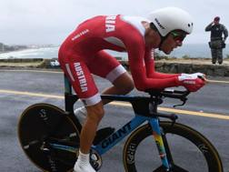 Georg Priedler nella crono olimpica di Rio. AFP