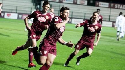 L'esultanza di Nicola Rauti: il Torino vola in finale. Lapresse