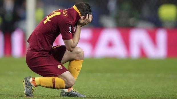 Alessandro Florenzi in lacrime. Ap