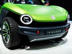 Il muso della concept I.D. Buggy di Volkswagen. Getty