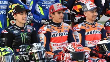 Vinales, Marquez e Lorenzo. Afp