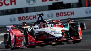 Jerome d'Ambrosio del Mahindra Racing team nel Gran Premio di Città del Messico. Epa