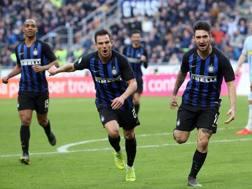 Festa Inter per la vittoria sulla Spal. Ansa