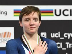 Kelly Catlin, medaglia d'argento dell'inseguimento a squadre alle Olimpiadi di Rio 2016. Afp