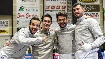 Il quartetto azzurro terzo a Padova