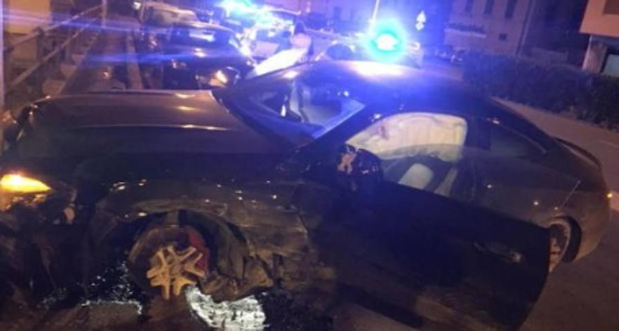 Defrel: notte folle a Genova Schianto e  patente ritirata
