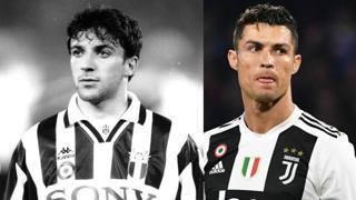 Del Piero e Cristiano Ronaldo. DFP-AFP