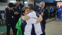 La gioia incontenibile di Elisa Liuccarini , Gianluca Formicone e della delegazione azzurra