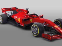 La Ferrari SF90 con il logo per i 90 anni della Scuderia