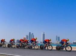 La cronosquadra della Bahrain-Merida BETTINI