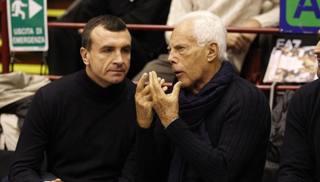 Livio Proli, 51 anni, con Giorgio Armani, 84 CIAM
