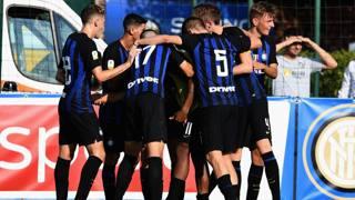 L'esultanza dell'Inter Primavera. Getty