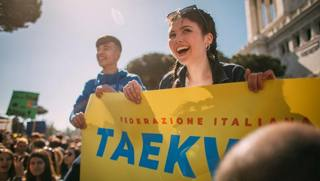Il taekwondo italiano in piazza per Fridays for Future