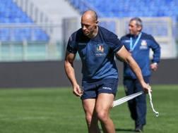 Sergio Parisse durante il captain's run. Fama