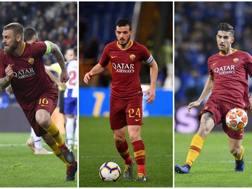 Daniele De Rossi, Alessandro Florenzi e Lorenzo Pellegrini