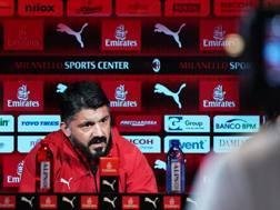 L'allenatore del Milan Gennaro Gattuso. Ansa