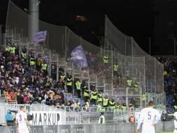 Il settore ospiti della Sardegna Arena. Getty