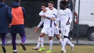 L'esultanza della Fiorentina Primavera. Getty