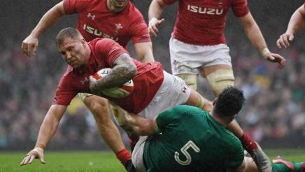 Ross Moriarty, 24 anni, in azione nella vittoria del Galles sull'Irlanda. Afp