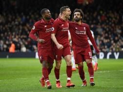 L'esultanza del Liverpool. Getty