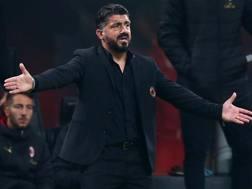 Rino Gattuso, allenatore del Milan. Lapresse