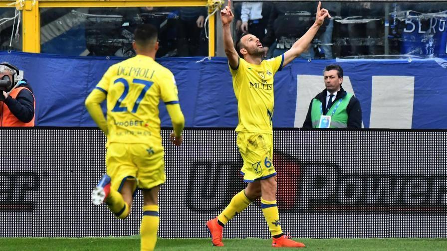 Decide il gol di Meggiorini Al 45' Atalanta-Chievo 0-1