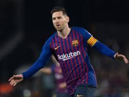 Leo Messi, il giocatore con più vittorie nella storia del Barcellona. Afp