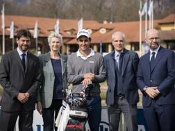 Andrea Agnelli, Allegra Agnelli, Edoardo Molinari, Sergio Balbinot e Giacomo Campora. Getty