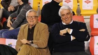 Cino Marchese, a destra, con Valerio Bianchini