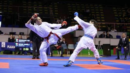 Silvia Semeraro in azione nei -68 kg contro Pamela Bodei: la più bella finale di giornata
